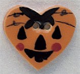 86163 - Large Pumpkin Heart 7/8in x 3/4in - 1 per pkg